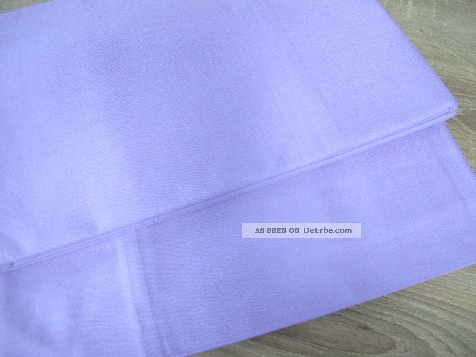 2 aussteuer bettt cher bettlaken baumwolle lila 140 x 240 cm unbenutzt s31. Black Bedroom Furniture Sets. Home Design Ideas
