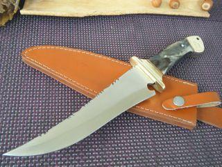 Jagdmesser Widderhorn Xl Jagdmesser 515 G Handarbeit 32,  5 Cm Asw Knives 592 Bild