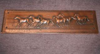 Kupferbild.  Pferde.  130 X 36 X 4,  2 Cm.  Abholung Berlin Bild