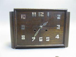 Alte Uhr Aus Holz Mit Pendel Kaminuhr Westminster Gong Art Deco Bild