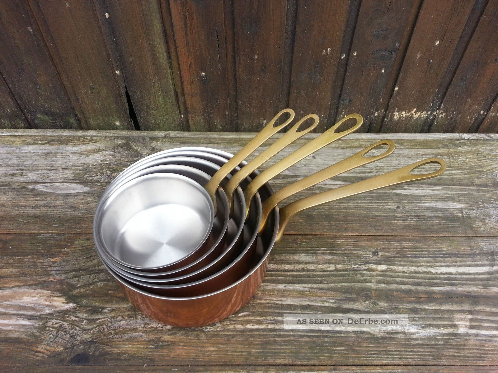 5 Kupfertöpfe / Kupfer Kasserollen / France Cuisin Nr.  890 Haushalt Bild