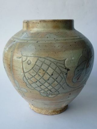 Vase Asien Keramik Vase Old Ceramic Korea Punchong Asia Asiatika 19th? Bild