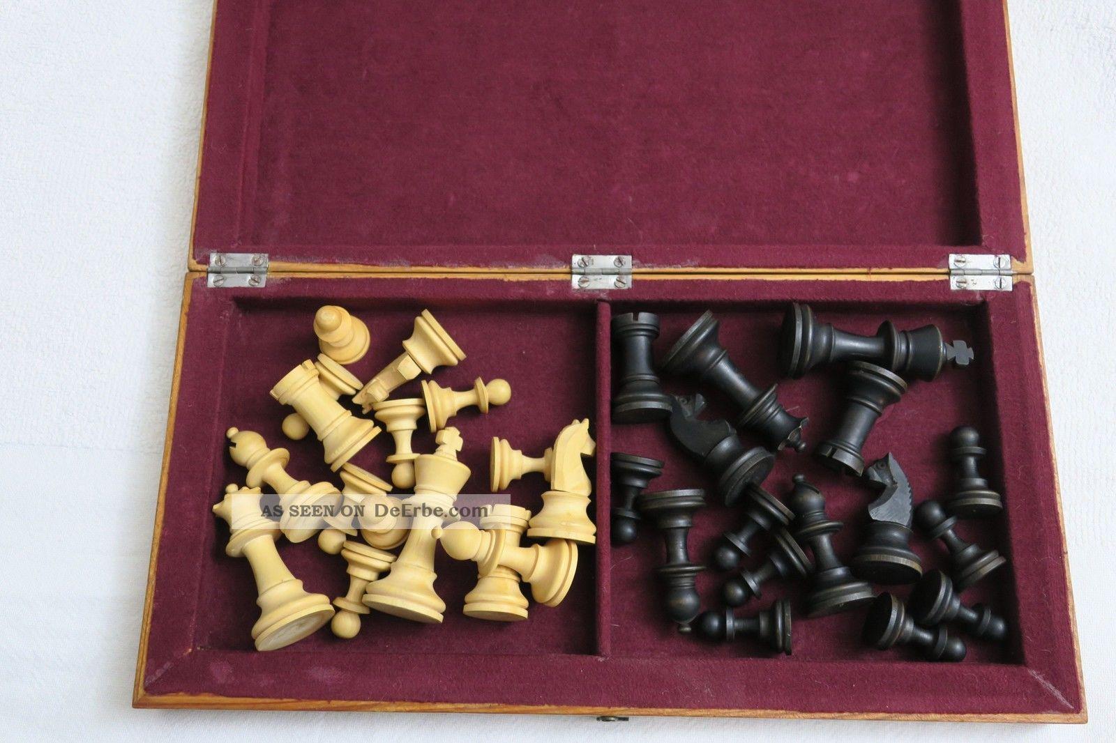 altes holz schachspiel klapp brett schatulle das holz ist pflegebed rftig. Black Bedroom Furniture Sets. Home Design Ideas