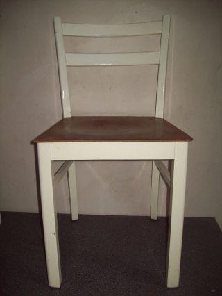 Alter Cafe Bistro Stuhl Küchenstuhl Bauhaus Design 1 Von 2 Bild