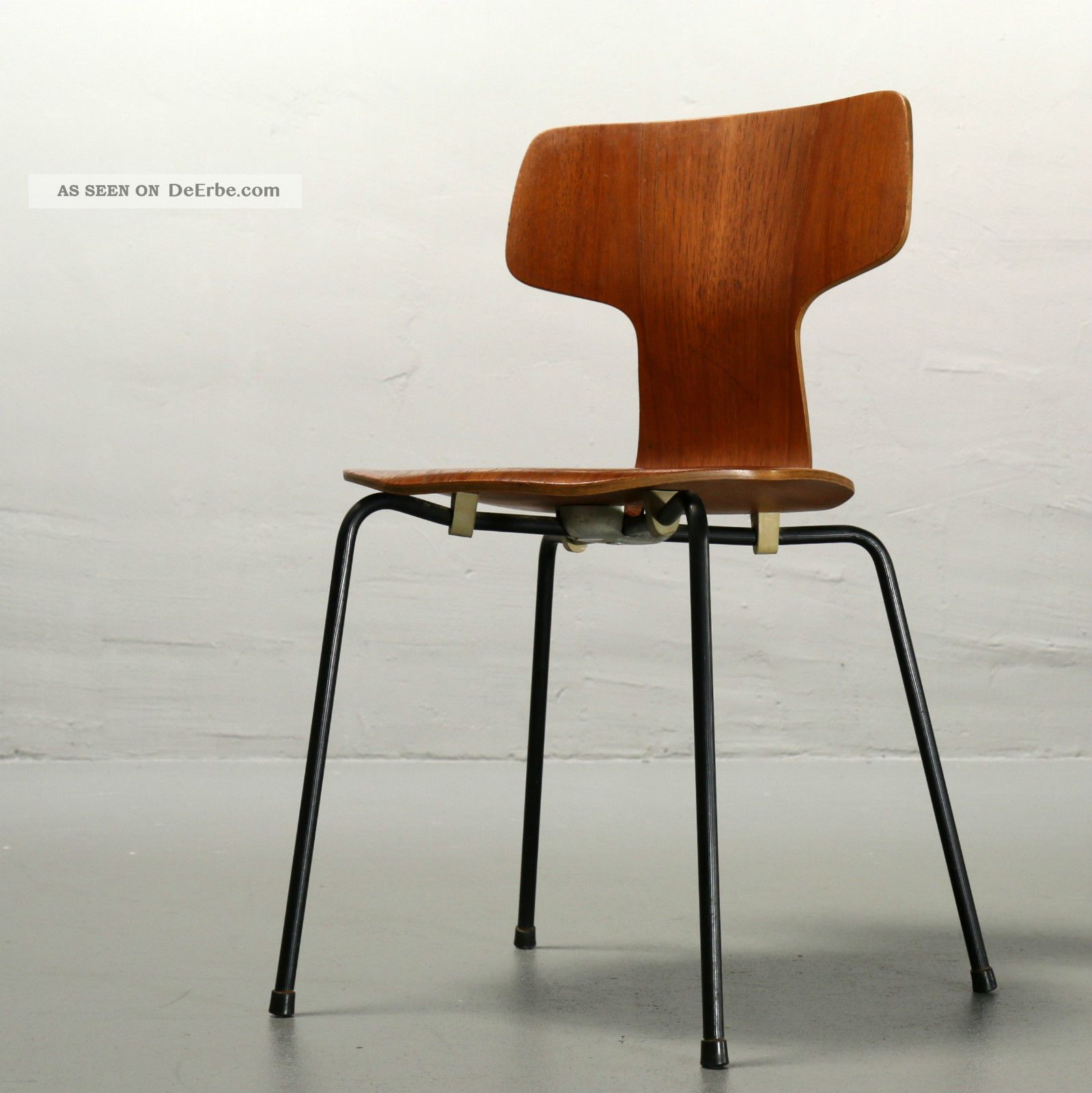 arne jacobsen f r fritz hansen stuhl 3103 1966 teak chair mid century vintage. Black Bedroom Furniture Sets. Home Design Ideas