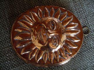 Sonne Gesicht Kuchenform Backform Kupfer Bild