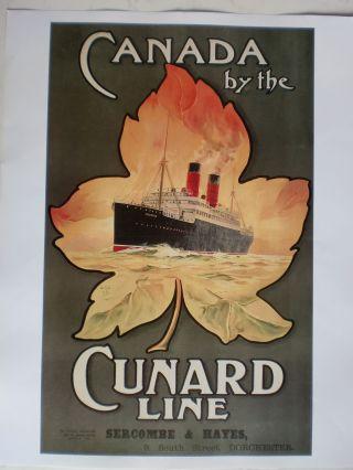 Maritim Plakat Poster Reederei Cunard Line,  Repro V.  1911 - Rarität Bild