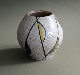 50er Jahre Keramik Vase ü - Keramik Form 418 (1957) 50s Rockabilly Bild
