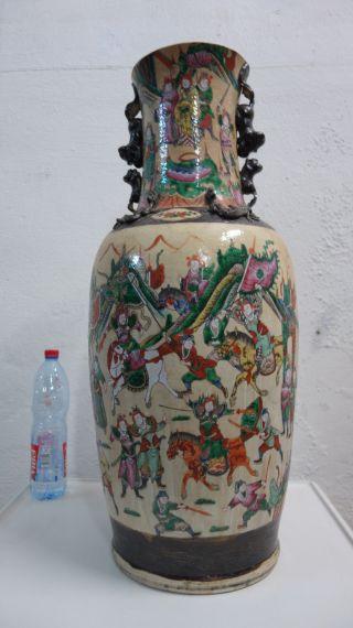 Antike Chinesische Keramik Vase 25kg 84cm China Krieger Drachen Bild