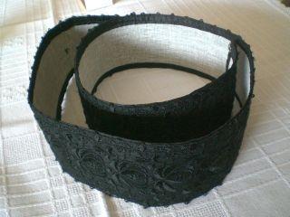 Trachtengürtel - Gürtel - Schwarze Spitze - Schaumburger Tracht Bild
