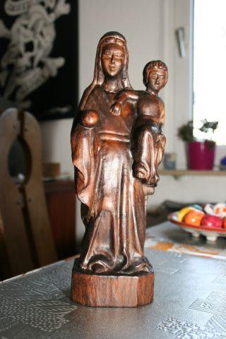 Holzfigur,  Spanische Madonna,  Maria Mutter Gottes Mit Jesus Kind,  Edel WunderschÖn Bild