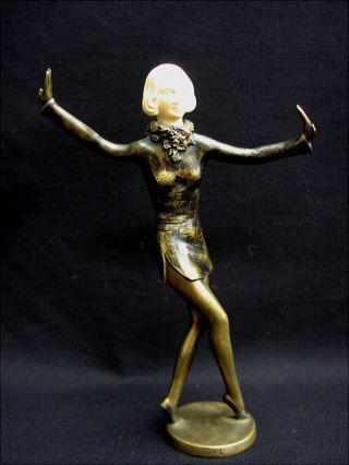 Rare Alte Bronze Skulptur Tänzerin Jugendstil Um 1910 Lorenzl Sign.  Renz Bild