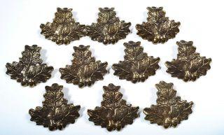 10 X Keilerwaffen Abdeckung Eichenlaub Für Keilerwaffen Massiv Bronze Keiler Bild