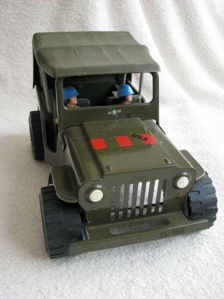 4 Sterne Tonka Army Jeep 27cm Mit 2 Personen,  Zubehör In,  Ca.  1970 Bild