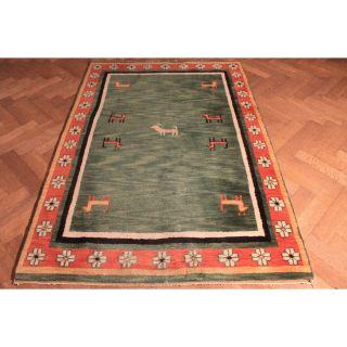 Wunderschön Handgeknüpfter Orient Teppich Blumen Gabbeh Carpet Tapis 130x180cm Bild