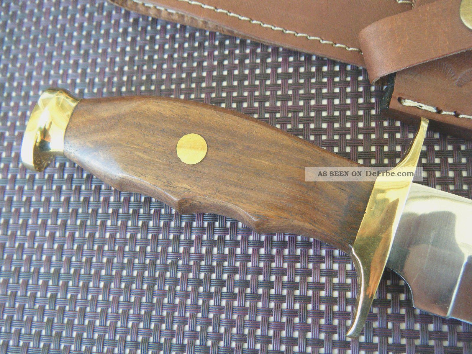 jagdmesser edelstahl walnuss holz xl jagdmesser mit asw knives lederscheide. Black Bedroom Furniture Sets. Home Design Ideas