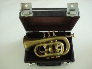 Alte Messing Horn Boosey&co Classa London Nr.  84059 Mit Koffer,  Mundstück Bild