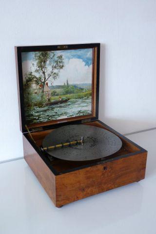 Kalliope Mit 10 Glocken Und 20 Blechplatten Musikautomat Spieluhr Bild