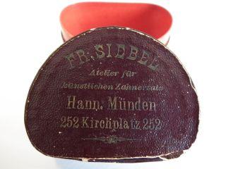 Dose - Schachtel - Zahnersatz - Mit Deckel - Pappe Bezogen - Antik - RaritÄt Bild