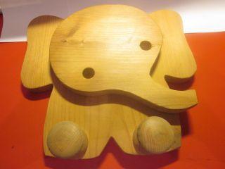 Kindergarderobe Hakenleiste Elefant Motiv Kiefernholz Natur Norgut Bild