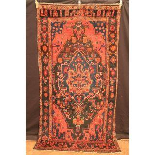 Antiker Handgeknüpfter Orient Blumen Teppich Sa Rug Lillian Old Carpet 250x130cm Bild