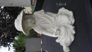 Große Figur,  Junges Mädchen Mit Vogel,  Alabaster? Bild