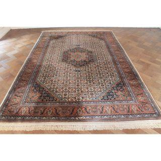 Schöner Handgeknüpfter Blumen Teppich Herati Bid Jaahha Carpet Tappeto 300x200cm Bild