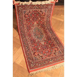 Schöner Handgeknüpfter Blumen Teppich Herati Bid Jaahha Carpet Tappeto 145x75cm Bild