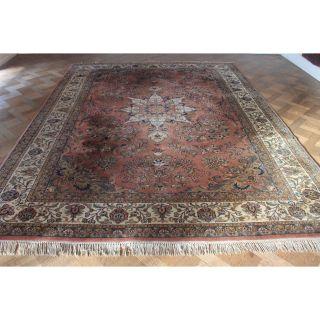 Schöner Handgeknüpfter Blumen Palast Teppich Heris Kum Carpet Tappeto 350x250cm Bild