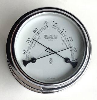 Altes Großes Wempe Comfortmeter :thermometer & Hygrometer Bild