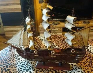 Schiffsmodell Segelschiff Dreimaster Mallorca Bild
