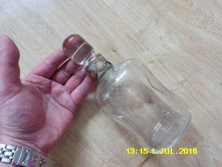 Antik Glasflasche Christoph Widmann Silber 925 Ring Flasche Glas Likör Whisky Bild