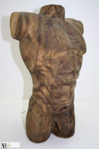 Skulptur Mann / Dekoration / Plastik/ Holz / Figur/ Sculpture Men Torso / 4147 Bild