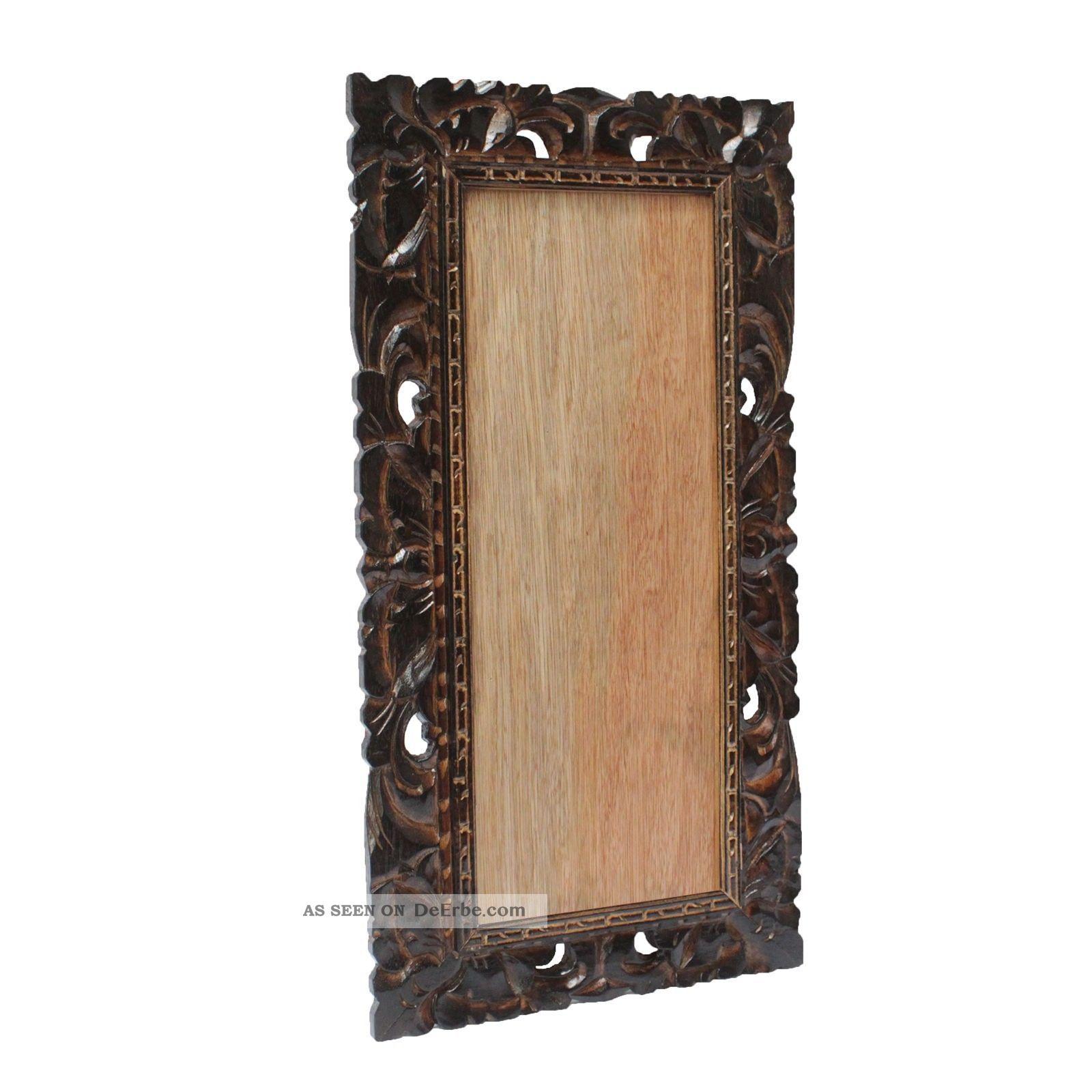 bilderrahmen holz braun 20x50 foto rahmen schnitzerei wand deko echt dunkel glas. Black Bedroom Furniture Sets. Home Design Ideas