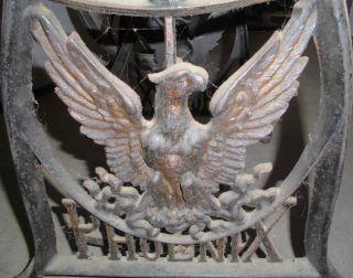Nähmaschinentisch Näh Maschine Guss Eisen Alt Gestell Phoenix Top Deko Tisch Bild