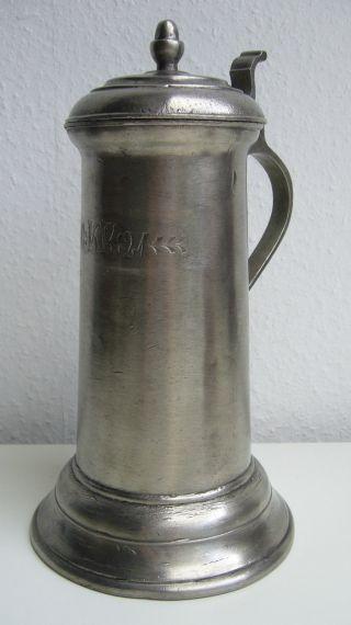 Konvolut Krug Krüge - Zinn Holz Keramik ? Metall Bild