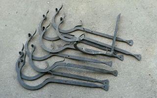 Dachrinnenhaken Geschmiedet 9 Stück Schmiede Metallbau Schlosser Bild