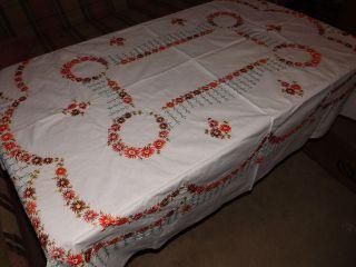 Wunderschöne Antike Tischdecke - Bestickt - Handarbeit - Nachlass Bild