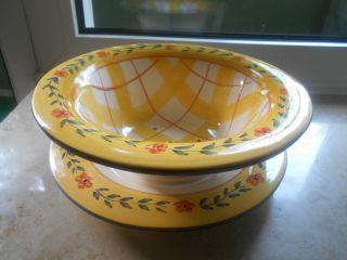 Keramik Abtropf Sieb Mit Unterteller Bild