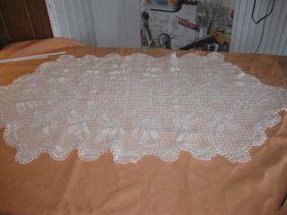 Tischdecke Alte Handarbeit Reine Baumwolle Bild