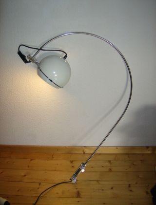 1970er Kugellampe - Bogenlampe - Wall Lamp Vintage - Weiß/chrom/plexi - Bild