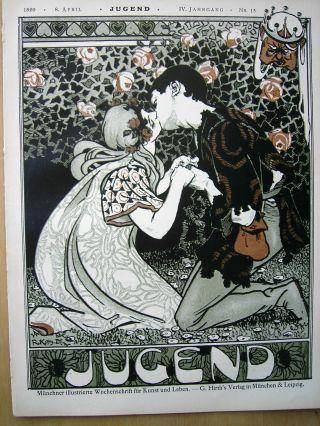 Jugend 15 - 1899 Jugendstil.  U.  A.  Karikatur Franz Stuck U.  Wallot Bild