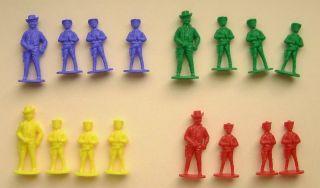 Noris 16 Cowboy Figuren Für Bonanza Brettspiel Bild