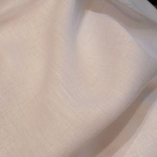 2 X Leinen Stoff Rest In Weiß,  Bauernleinen,  B 150 Cm Ges.  329 Cm,  Uni,  Toll Bild