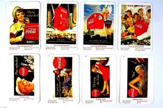 Altes Kartenspiel Coca Cola Quartett 32 Karten Playing Cards Sammlerstück Bild