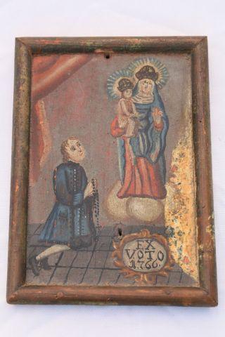 Antikes Orig.  Votivbild Ex Voto Dat 1766 Bild
