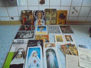 Konvolut Kl.  Heilige Bücher - Gebetsbilder - Andachtsbilder - Ansichtskarten 46 Tlg Bild