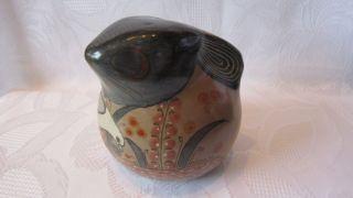 Mexikanische Figur Hase Aus Ton / Keramik,  Lasiert,  Florales Muster,  H.  Ca.  11 Cm Bild