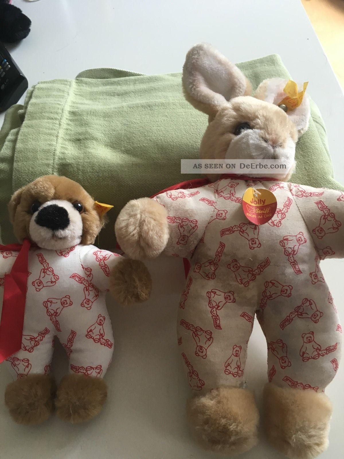 Steiff Sammlerstücke Hund Und Hase Stofftiere & Teddybären Bild