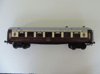 A S Spur 0 Tin Plate Pullman Car N° 4002 De S.  Fotos,  L: 37,  5 Cm,  Gebrauchsspuren Bild
